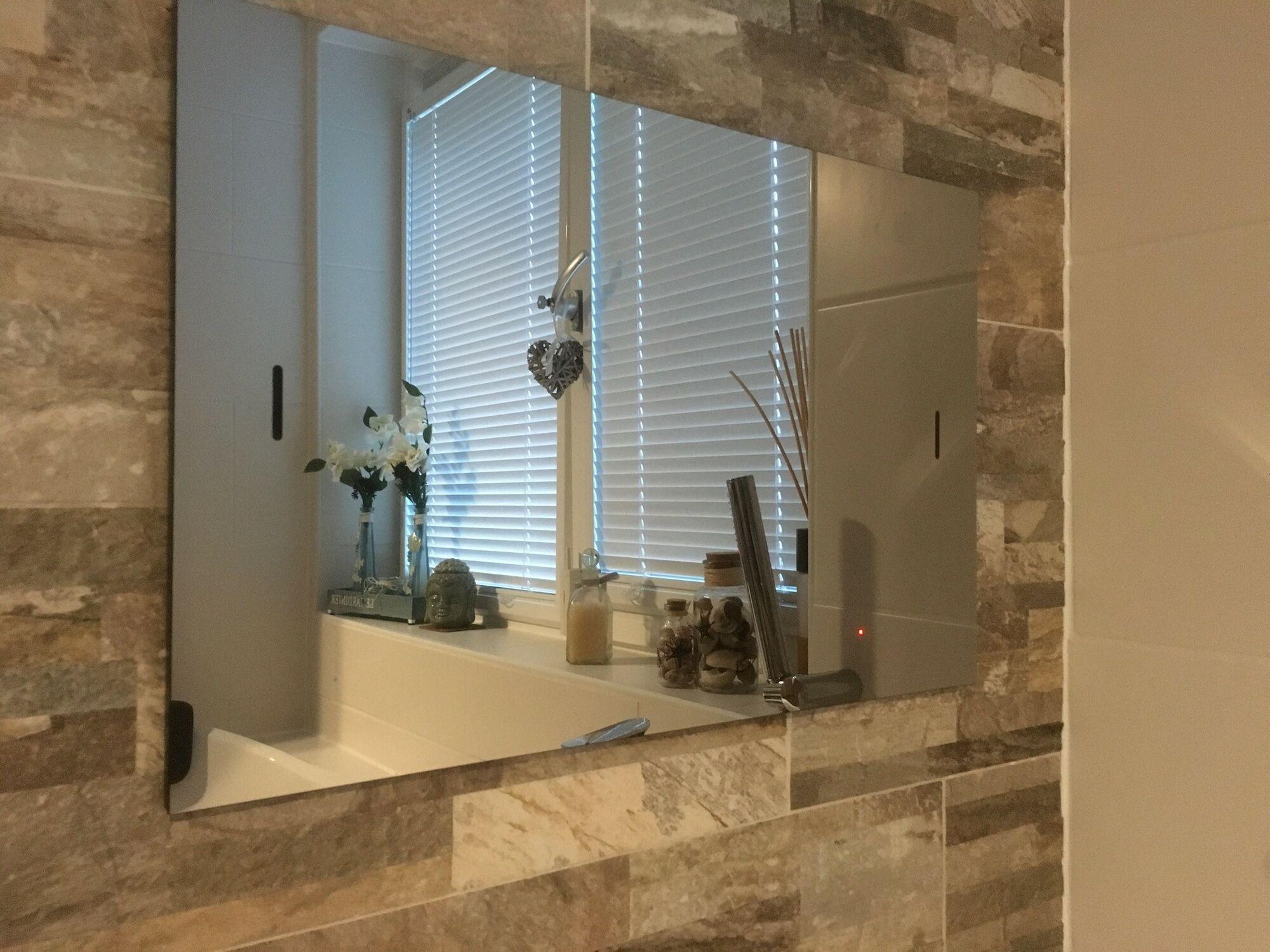 Wasserdichter spiegel led tv 17 zoll mit dvb c und dvb s2 tuner f r digital tv via ci modul - Vde 0100 badezimmer ...