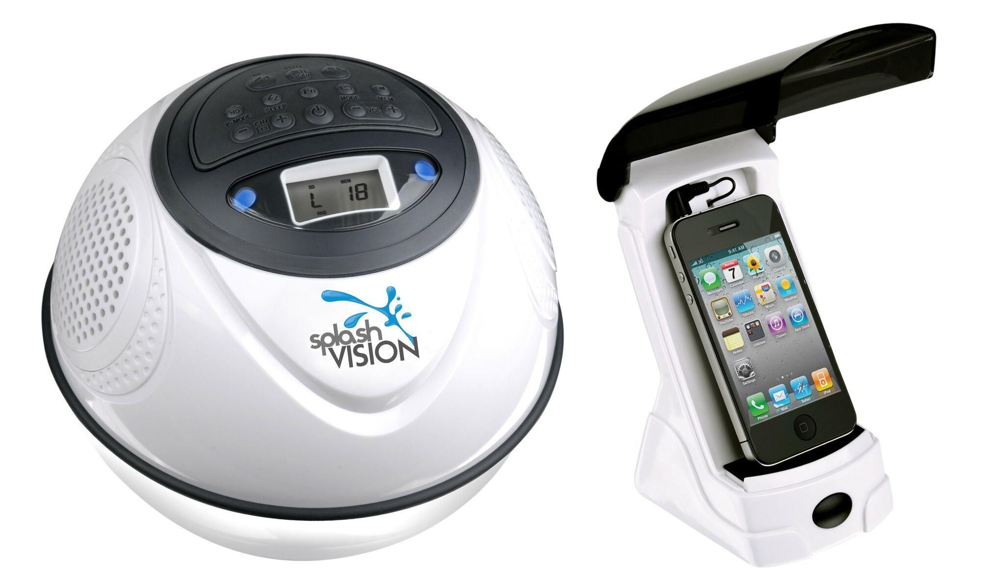 Wasserdichter drahtloser Lautsprecher mit MP3 und FM SplashVision SpeakerBal 2